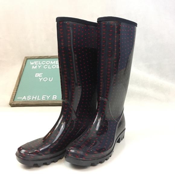 146273caa93 Rain Boots   Heart Winter & Spring Mid Calf boot
